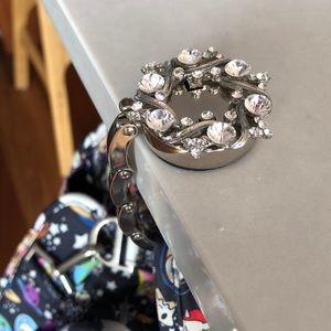 Bling Foldable Table Bag Hanger with own bag case
